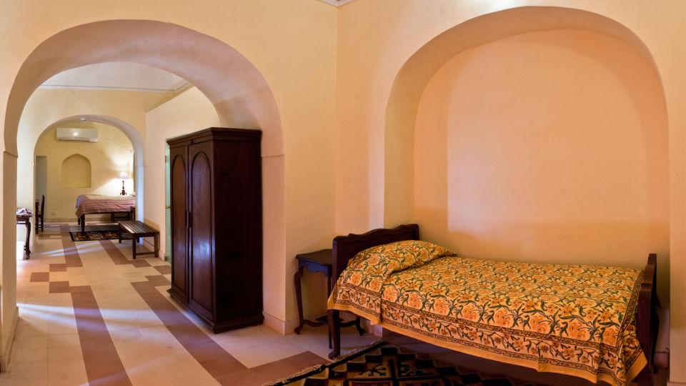 Tijara Fort-Palace - 19th Century_ Alwar Alwar Adil Mahal Facade_Tijara Fort Palace_Hotel In Rajasthan