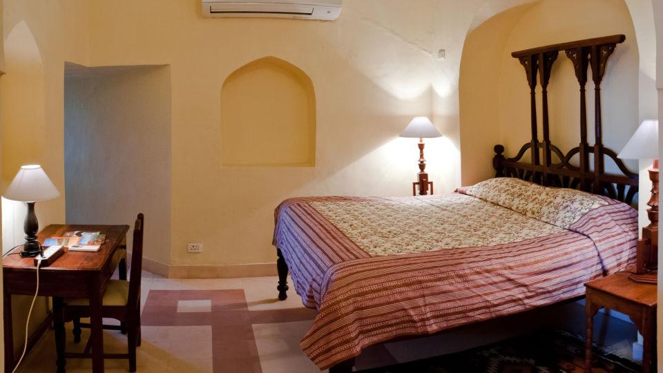 Tijara Fort-Palace - 19th Century_ Alwar Alwar Adil Mahal Facade_Tijara Fort Palace_Hotel In Rajasthan 1