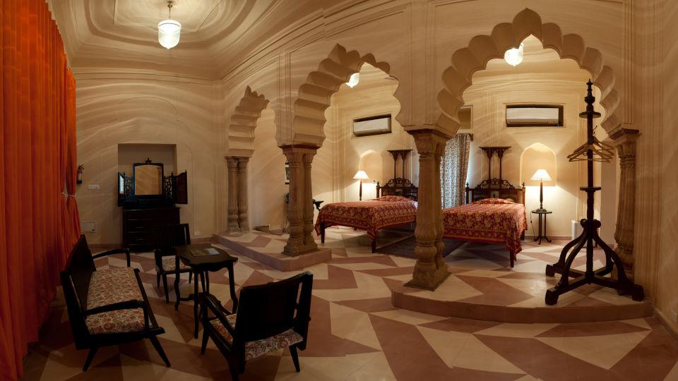 Tijara Fort-Palace - 19th Century_ Alwar Alwar Alka Mahal Facade_Tijara Fort Palace_Hotel In Rajasthan