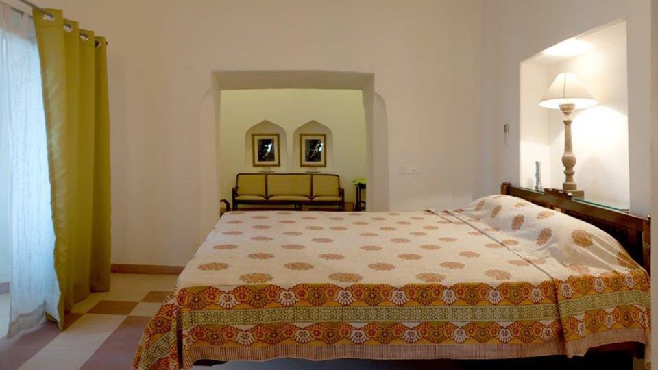Tijara Fort-Palace - 19th Century_ Alwar Alwar Arpana Mahal Facade_Tijara Fort Palace_Hotel In Rajasthan