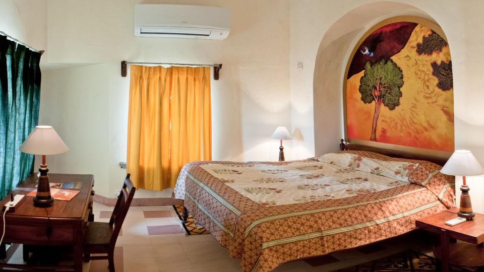 Tijara Fort-Palace - 19th Century_ Alwar Alwar Broota Mahal Facade_Tijara Fort Palace_Hotel In Rajasthan