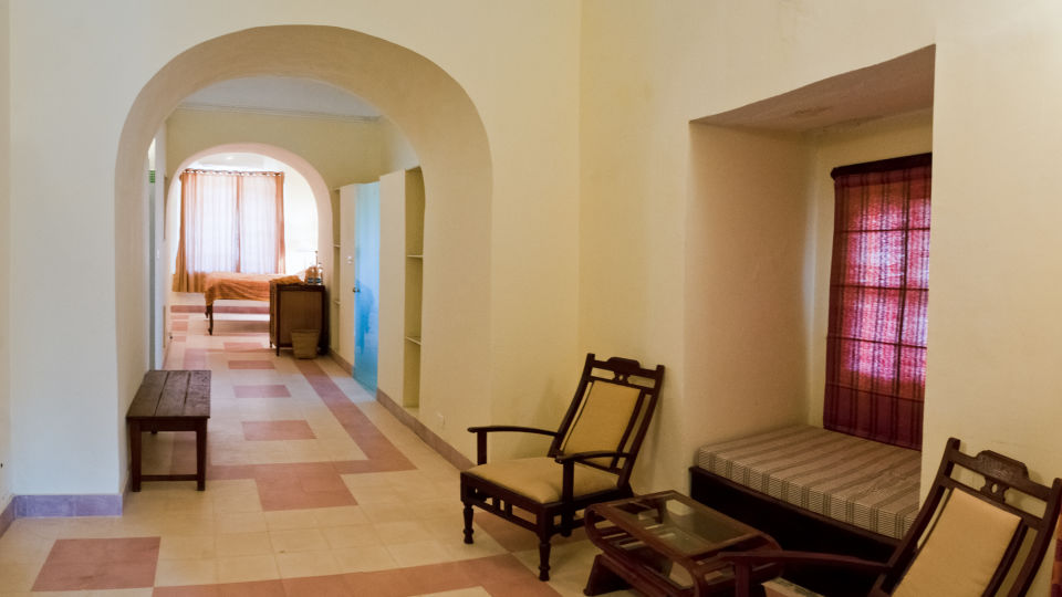 Tijara Fort-Palace - 19th Century_ Alwar Alwar Gaurav Mahal Facade_Tijara Fort Palace_Hotel In Rajasthan