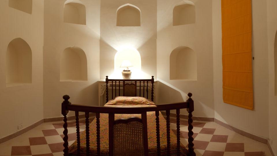 Tijara Fort-Palace - 19th Century_ Alwar Alwar Gogi Mahal Facade_Tijara Fort Palace_Hotel In Rajasthan