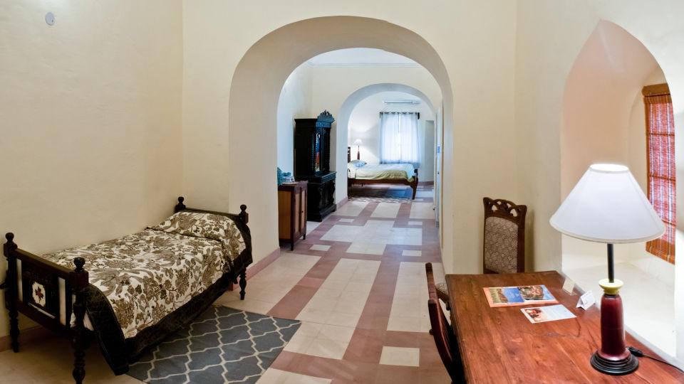 Tijara Fort-Palace - 19th Century_ Alwar Alwar Gudda Mahal Facade_Tijara Fort Palace_Hotel In Rajasthan