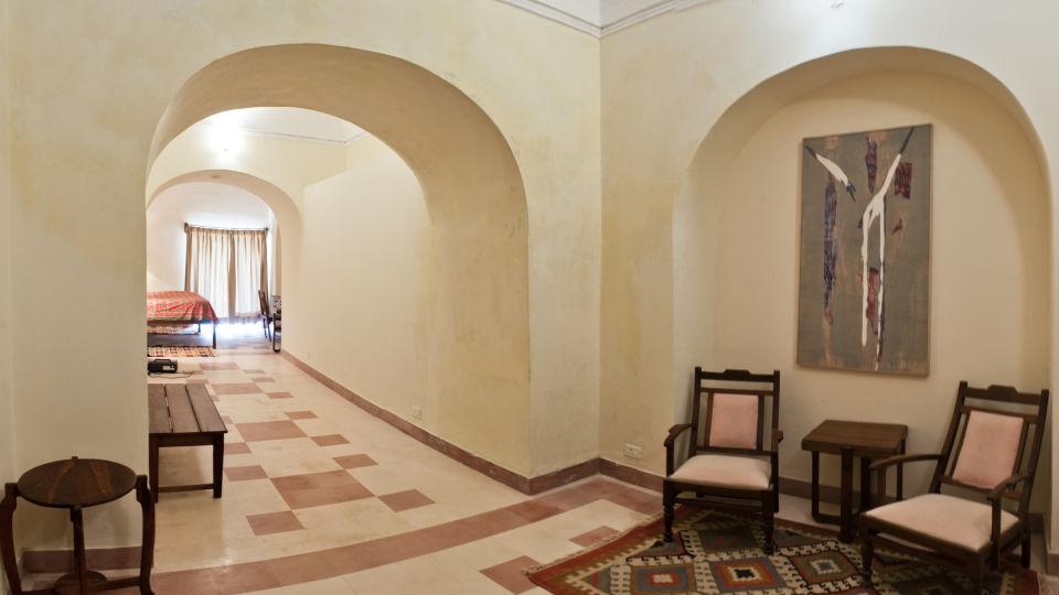 Tijara Fort-Palace - 19th Century_ Alwar Alwar Indore Mahal Facade_Tijara Fort Palace_Hotel In Rajasthan 1