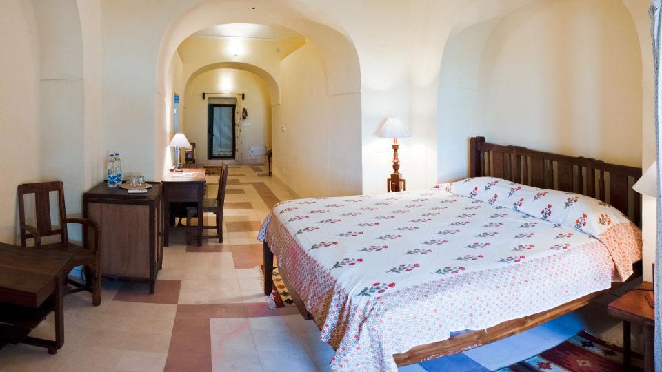 Tijara Fort-Palace - 19th Century_ Alwar Alwar John Mahal Facade_Tijara Fort Palace_Hotel In Rajasthan