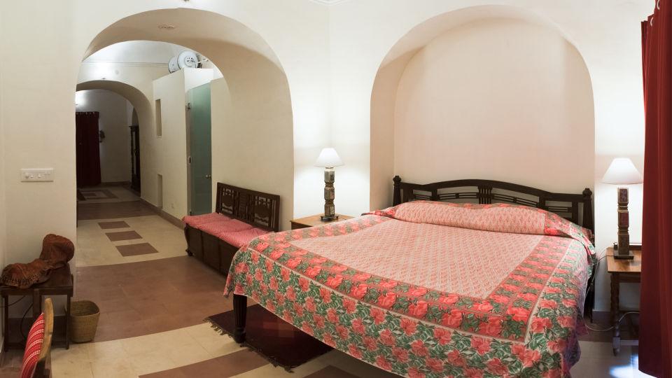 Tijara Fort-Palace - 19th Century_ Alwar Alwar Krishen Mahal Facade_Tijara Fort Palace_Hotel In Rajasthan 1
