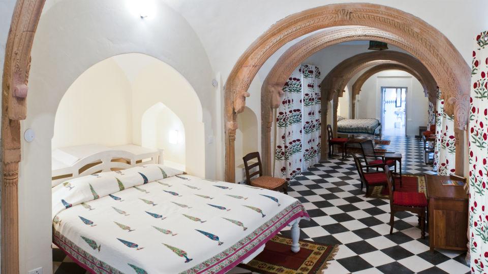 Tijara Fort-Palace - 19th Century_ Alwar Alwar Lal Mahal Facade_Tijara Fort Palace_Hotel In Rajasthan 1