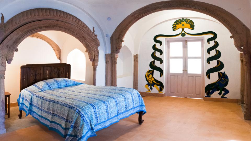 Tijara Fort-Palace - 19th Century_ Alwar Alwar Mukesh Mahal Facade_Tijara Fort Palace_Hotel In Rajasthan 1