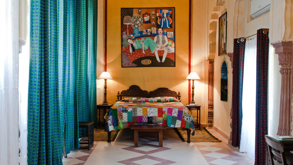 Tijara Fort-Palace - 19th Century_ Alwar Alwar Nayna Mahal Facade_Tijara Fort Palace_Hotel In Rajasthan