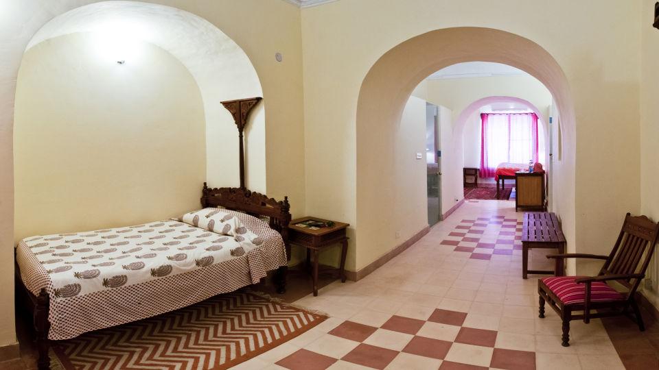 Tijara Fort-Palace - 19th Century_ Alwar Alwar Nitin Mahal Facade_Tijara Fort Palace_Hotel In Rajasthan