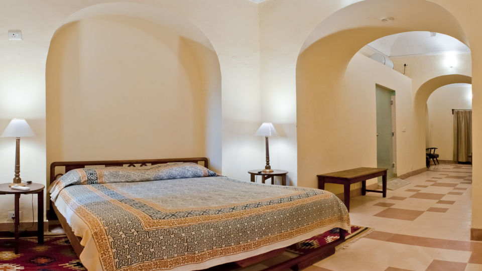 Tijara Fort-Palace - 19th Century_ Alwar Alwar Panda Mahal Facade_Tijara Fort Palace_Hotel In Rajasthan