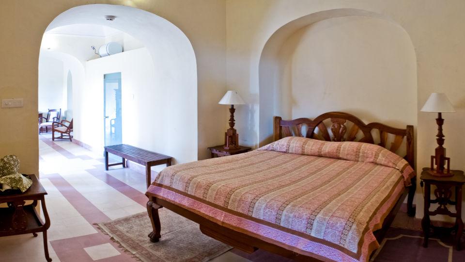 Tijara Fort-Palace - 19th Century_ Alwar Alwar Pratap Mahal Facade_Tijara Fort Palace_Hotel In Rajasthan