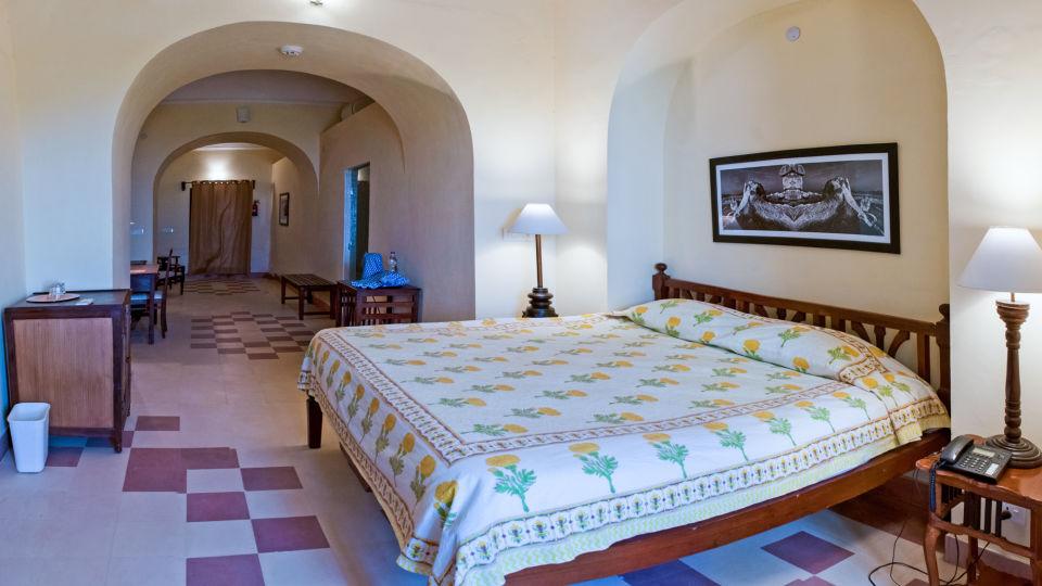 Tijara Fort-Palace - 19th Century_ Alwar Alwar Raghu Mahal Facade_Tijara Fort Palace_Hotel In Rajasthan