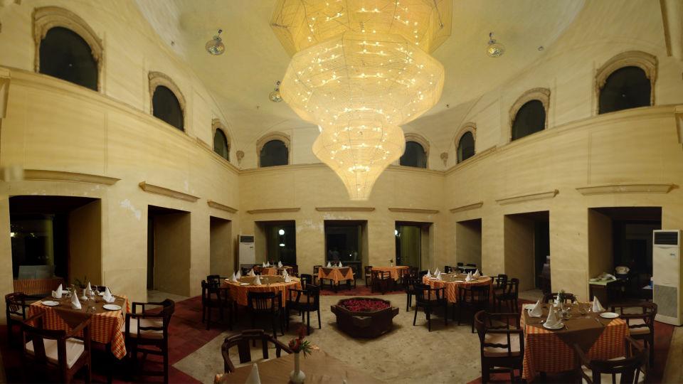 Restaurant in Alwar_ Neemrana Tijara Fort Palace_ Alwar Hotels 2