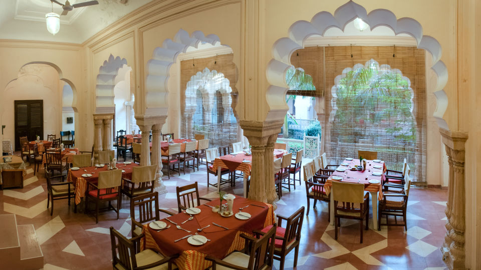 Restaurant in Alwar_ Neemrana Tijara Fort Palace_ Alwar Hotels 5