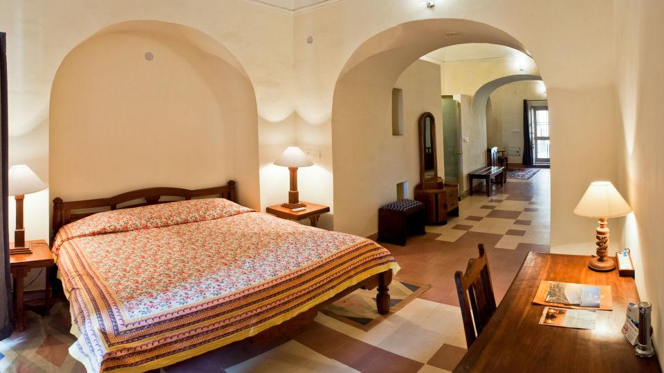 Tijara Fort-Palace - 19th Century_ Alwar Alwar Sheikh Mahal Facade_Tijara Fort Palace_Hotel In Rajasthan