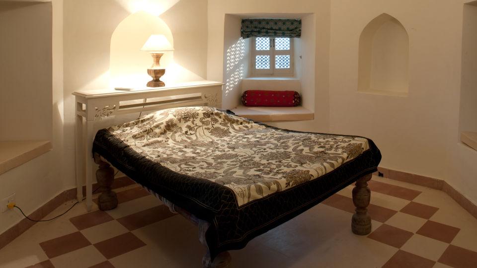 Tijara Fort-Palace - 19th Century_ Alwar Alwar Suneet Mahal Facade_Tijara Fort Palace_Hotel In Rajasthan