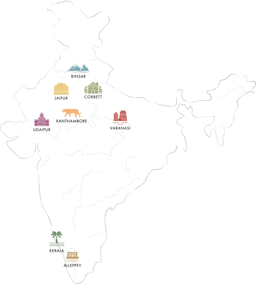 Map of india resorts
