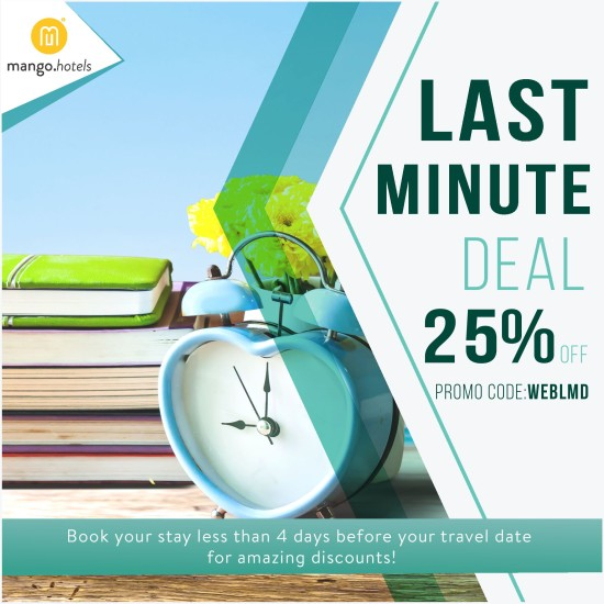Last Minute Deal, Mango Hotels, As alive as you!
