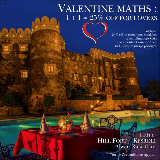 Valentine Package at Hill Fort-Kesroli - 14th Century Alwar