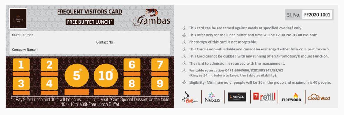 Loyalty Card at Karthika park 7