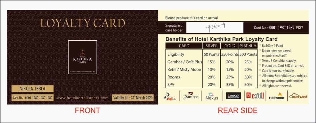 Loyalty Card at Karthika park 5