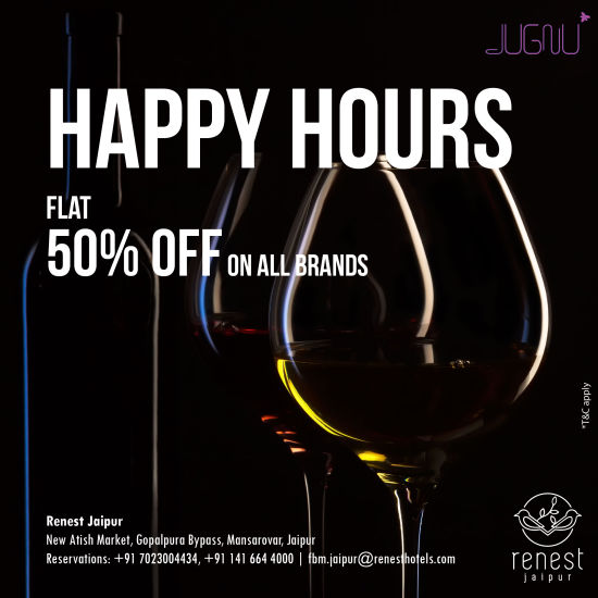 50 off Happy hours in Jaipur
