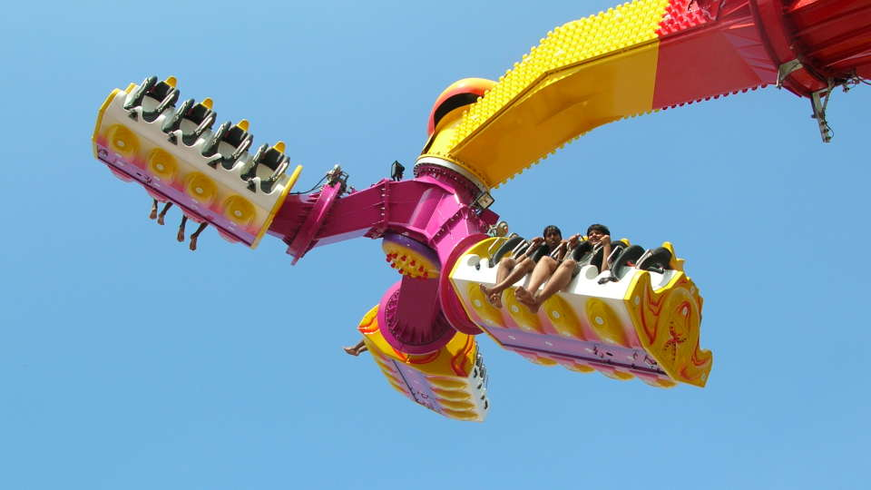 Thrillers Rides - Hurricane at  Wonderla Amusement Park Bangalore