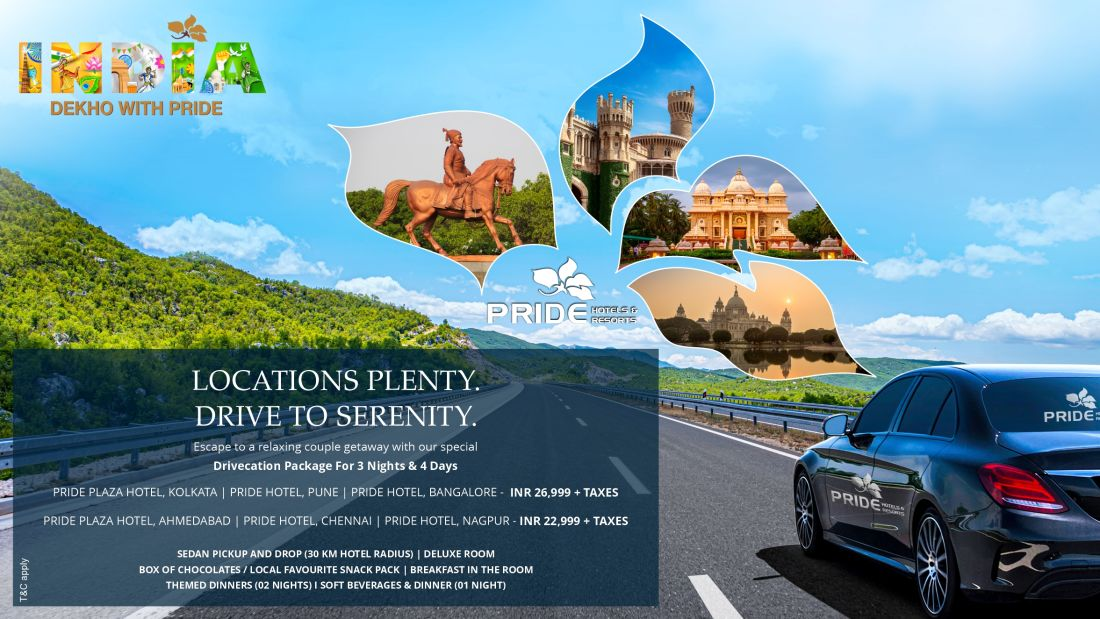 Pride Drivecation Package WebSite Landing Page