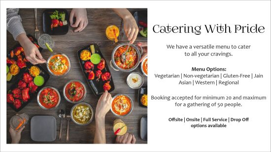 Catering with Pride Landing Page