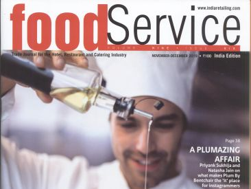 Pride Hotel Vikash P Food Service India Issue November - December 2019 Cover Page