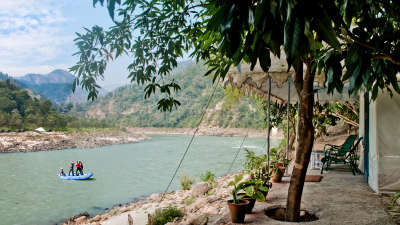 The Glasshouse on The Ganges - 21st Century, Rishikesh Rishikesh The Glasshouse on the Ganges above Rishikesh Uttarakhand 2