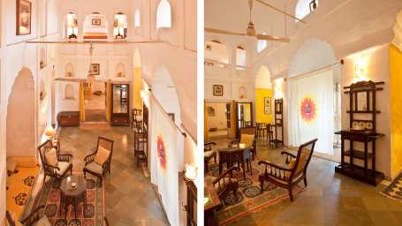 Neemrana Fort-Palace - 15th Century, Delhi-Jaipur Highway Neemrana Surya Mahal Neemrana Fort-Palace Alwar Rajasthan
