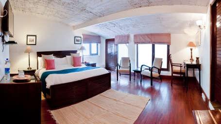Narmada The Glasshouse on the Ganges Above Rishikesh  Hotels Rooms Near Ganga