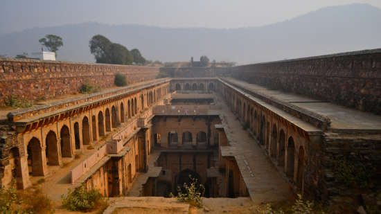 Neemrana Fort-Palace - 15th Century, Delhi-Jaipur Highway Neemrana Stepwell Neemrana Fort-Palace Alwar Rajasthan