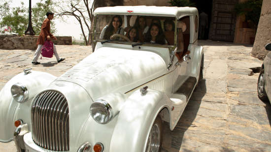 Neemrana Fort-Palace - 15th Century, Delhi-Jaipur Highway Neemrana Vintage Car Neemrana Fort-Palace Alwar Rajasthan