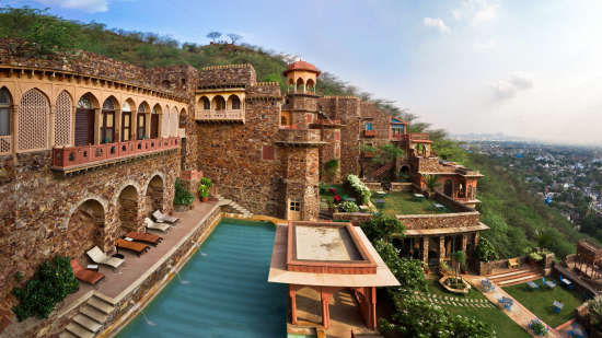 Neemrana Fort-Palace - 15th Century, Delhi-Jaipur Highway Neemrana Wing VII Neemrana Fort-Palace Alwar Rajasthan