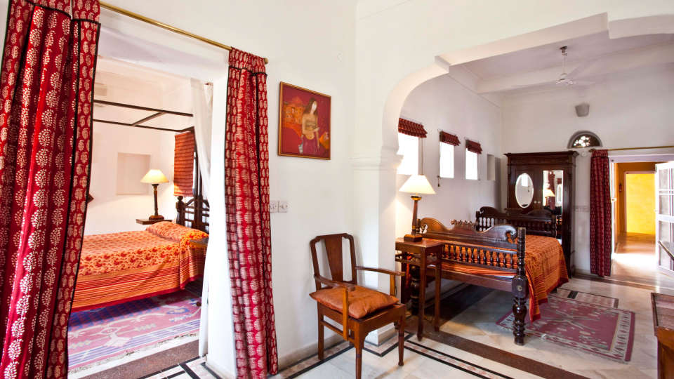 Neemrana Fort-Palace - 15th Century, Delhi-Jaipur Highway Neemrana Manak Mahal Neemrana Fort-Palace Alwar Rajasthan