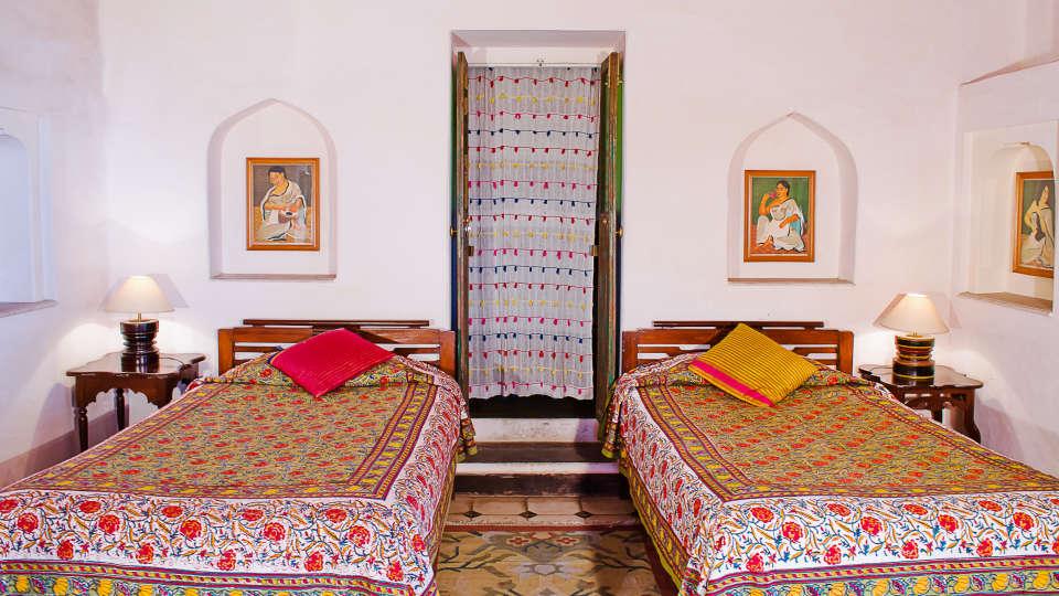 Neemrana Fort-Palace - 15th Century, Delhi-Jaipur Highway Neemrana Rang Mahal Neemrana Fort-Palace Alwar Rajasthan