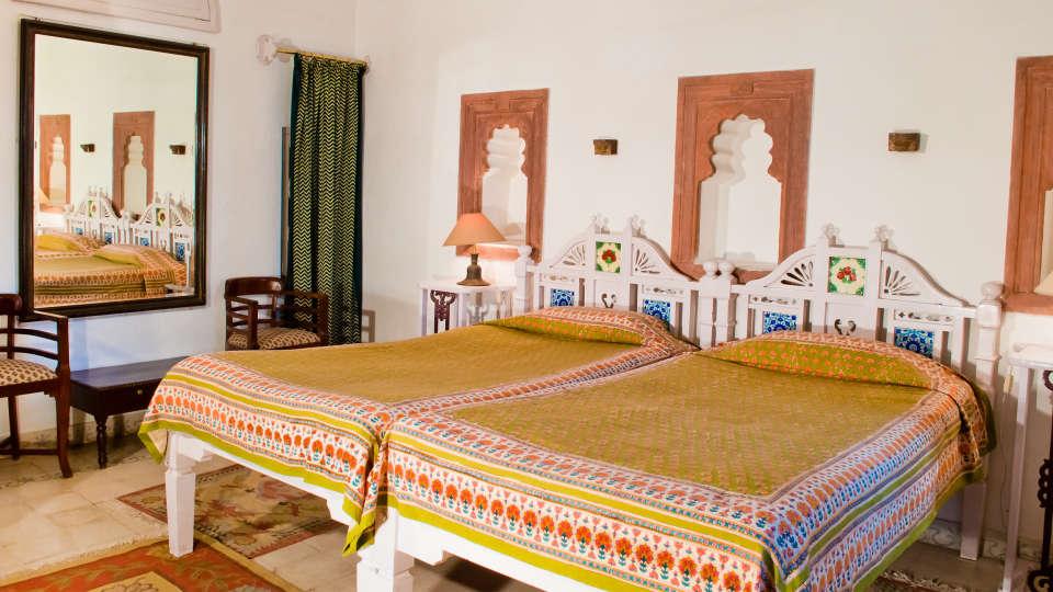 Neemrana Fort-Palace - 15th Century, Delhi-Jaipur Highway Neemrana Tulsi Mahal Neemrana Fort-Palace Alwar Rajasthan