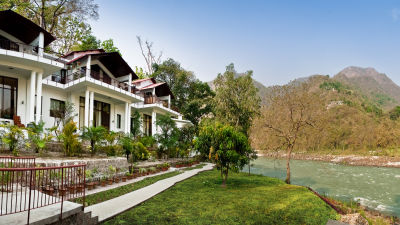 Neemrana hotels, The Glasshouse on the Ganges in Rishikesh Uttarakhand, hotels in rishikesh