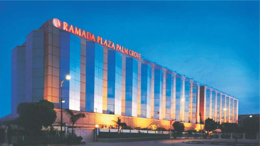 Facade of Hotel Ramada Plaza Palm Grove Juhu Mumbai  hotel near Juhu beach