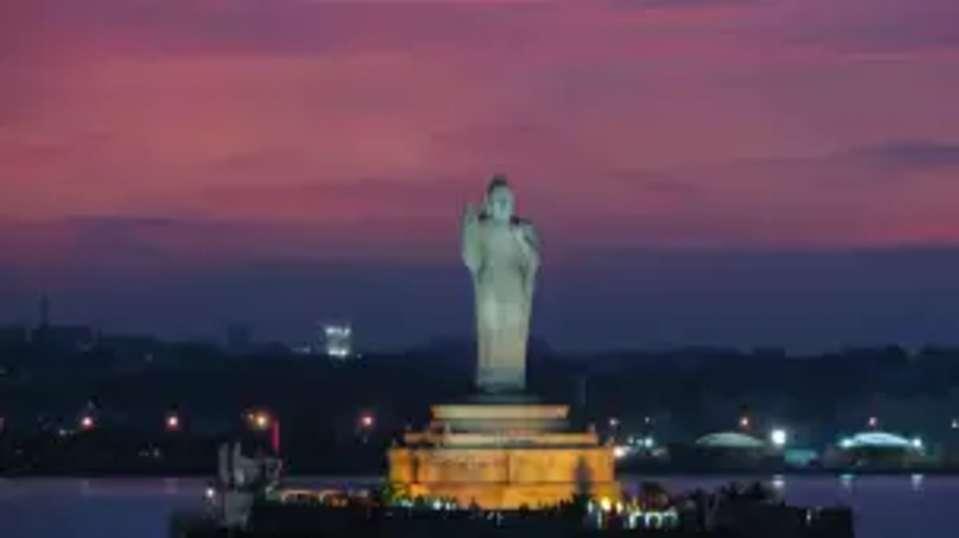 Hussain Sagar lake, Aditya Park Hyderabad, hyderabad hotels near HITEC city