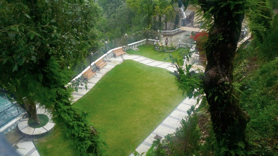 Aerial view of our property in Mussoorie, Hotel Madhuban Sarovar Portico, Mussoorie