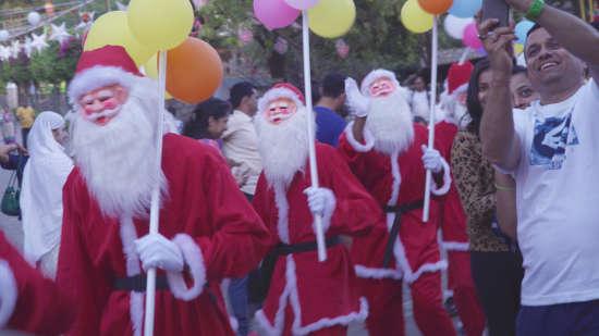santa s procession