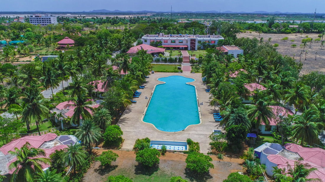 Aerial view of Chariot Beach Resort 4