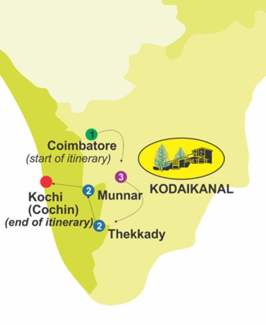 Nature Trek for 9 days, The Carlton Hotel , 5 Star hotels in Kodaikanal
