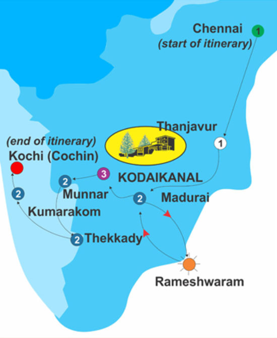 Southern Sojourn for 14 days, The Carlton Hotel , 5 Star hotels in Kodaikanal