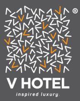 V Logo Black